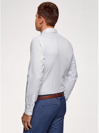 Košeľa bavlnená s potlačou OODJI