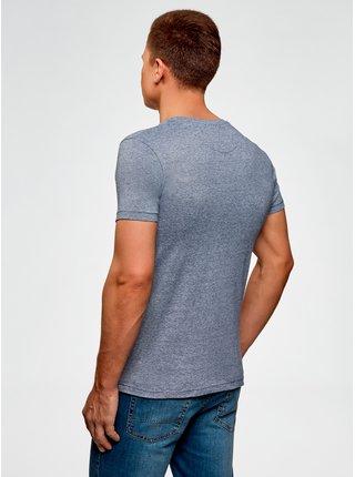 Tričko bavlnené s vreckom na prsiach OODJI