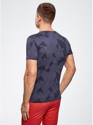 Tričko s potlačou s okrúhlym výstrihom OODJI