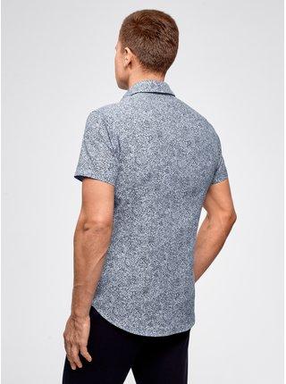 Košeľa so vzorom s krátkym rukávom OODJI