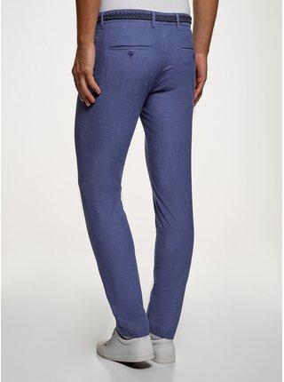Kalhoty typu chinos s pleteným páskem OODJI