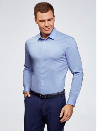 Košeľa klasická s dlhým rukávom OODJI