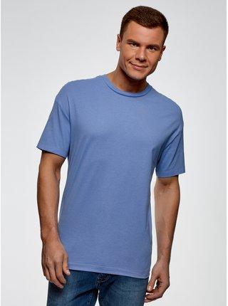 Tričko bavlněné rovného střihu OODJI