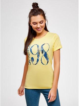 Tričko bavlnené s nápisom OODJI