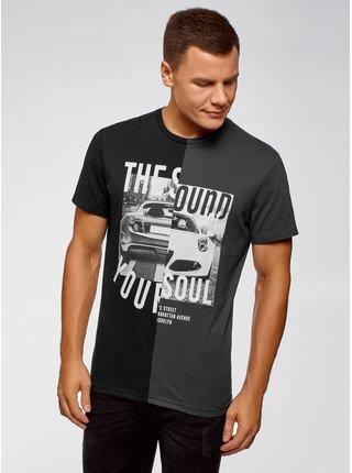 Tričko kombinované s potlačou OODJI