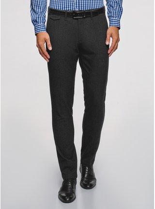 Nohavice slim z materiálu s výraznou textúrou OODJI
