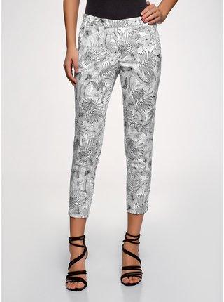 Kalhoty bavlněné zúžené OODJI