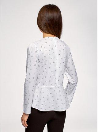 Blúzka z bavlny so zipsom na chrbte OODJI