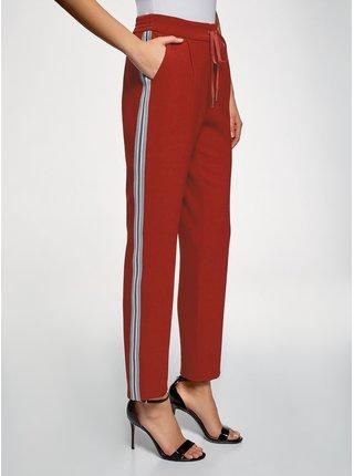 Kalhoty se zavazováním s lampasy OODJI