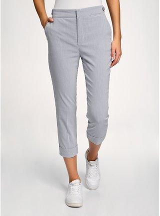 Nohavice bavlnené s vyhrnutými nohavicami OODJI