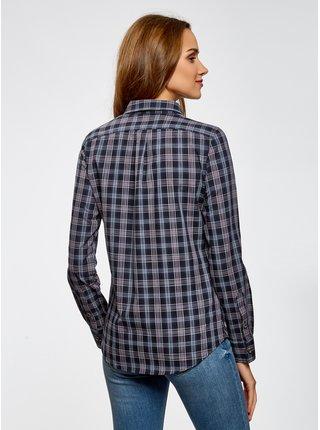 Košile bavlněná s ozdobeným límečkem OODJI