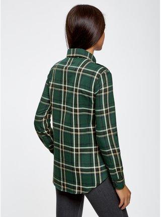 Košile kostkovaná s kapsičkami na prsou OODJI