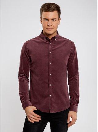 Košile slim z velvetu OODJI
