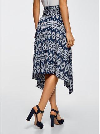 Sukně z tenkého materiálu s asymetrickou sukní OODJI