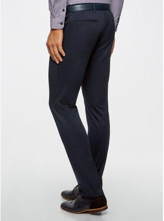 Kalhoty bavlněné s klopami na zadních kapsách OODJI