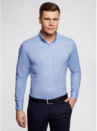 Košile vypasovaná s dlouhým rukávem OODJI