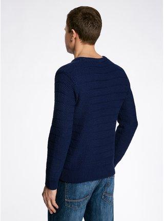 Pulovr pletený s výrazným vzorem s kulatým výstřihem OODJI