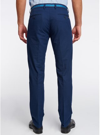 Nohavice bavlnené s kontrastnou ozdobou v páse OODJI