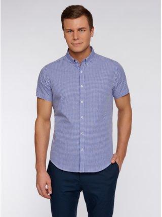 Košile kostkovaná s krátkým rukávem OODJI