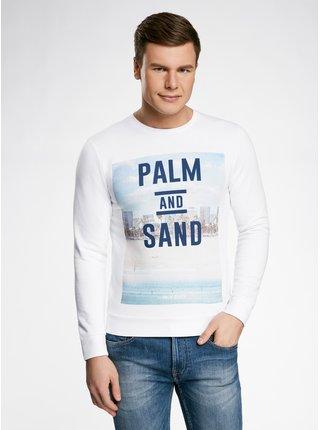 Mikina rovného strihu s plážovým potlačou OODJI