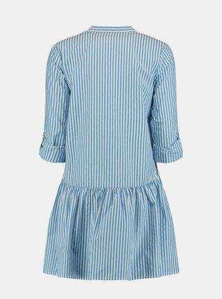 Bílo-modré pruhované košilové šaty Hailys