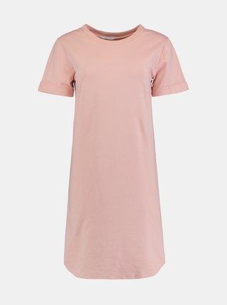 Světle růžové basic šaty Hailys