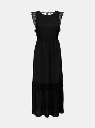 Černé maxišaty s krajkovými detaily Jacqueline de Yong Isabella