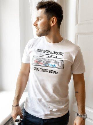 Bílé pánské tričko ZOOT Original Devadesátkový multiplayer