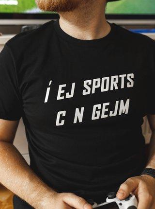 Černé pánské tričko ZOOT Original Í EJ SPORTS C N GEJM