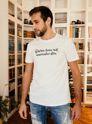 Biele pánske tričko ZOOT Original Dávám tomu rok