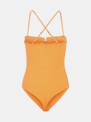 Oranžové body s knoflíky Pieces Leaf