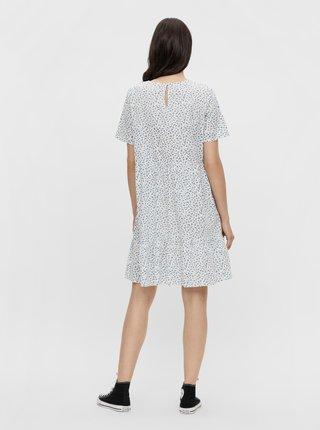 Biele kvetované voľné šaty Pieces Trine