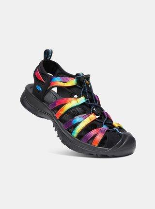 Fialovo-čierne dámske sandále Keen