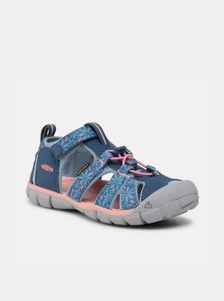Modré holčičí květované sandály Keen