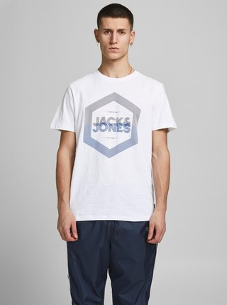 Biele tričko s potlačou Jack & Jones Delight