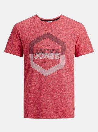 Červené tričko s potlačou Jack & Jones Delight