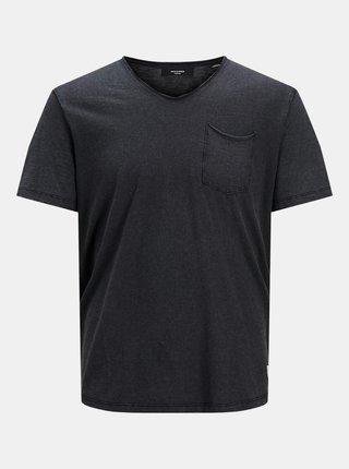 Čierne tričko s vreckom Jack & Jones Feel