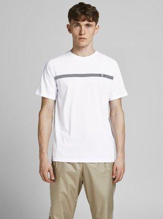 Bílé tričko s potiskem Jack & Jones Taped