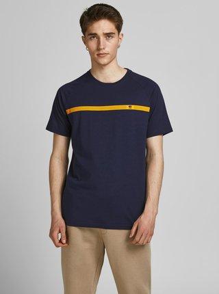 Tmavě modré tričko s potiskem Jack & Jones Taped