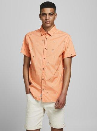 Oranžová vzorovaná košeľa Jack & Jones Playa