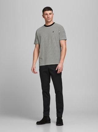 Čierno-biele pruhované tričko Jack & Jones Studio