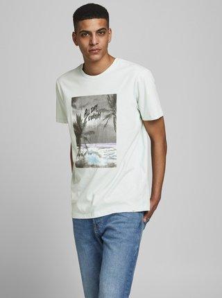 Svetlomodré tričko s potlačou Jack & Jones Tahoe
