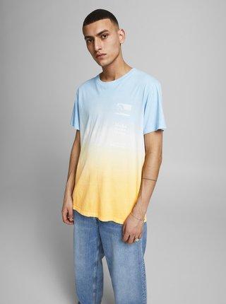 Žluto-modré tričko s potiskem Jack & Jones Alooha