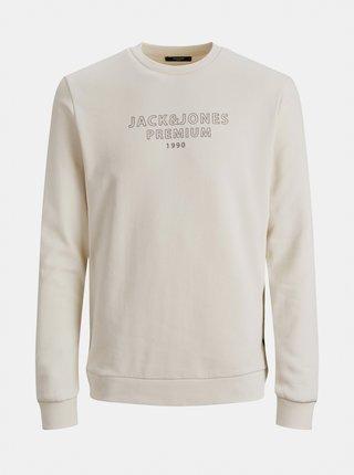 Krémová mikina s nápisem Jack & Jones Edgar