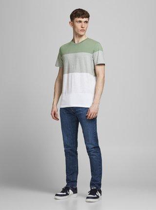 Bílo-zelené tričko Jack & Jones Laguna