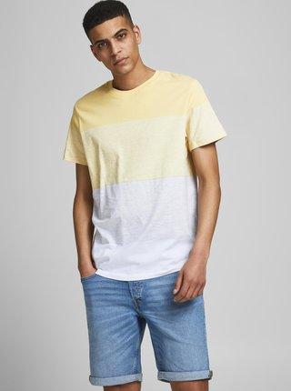 Bielo-žlté tričko Jack & Jones Laguna