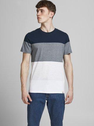 Bílo-modré tričko Jack & Jones Laguna
