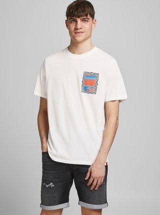Krémové tričko s potiskem na zádech Jack & Jones