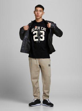 Čierne tričko s potlačou Jack & Jones Legends