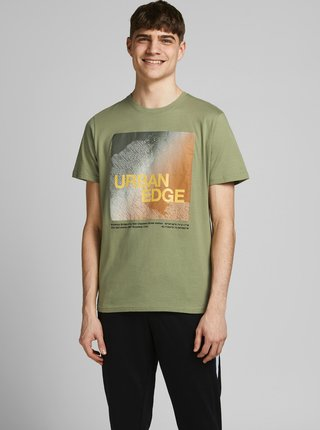 Zelené tričko s potlačou Jack & Jones Raz